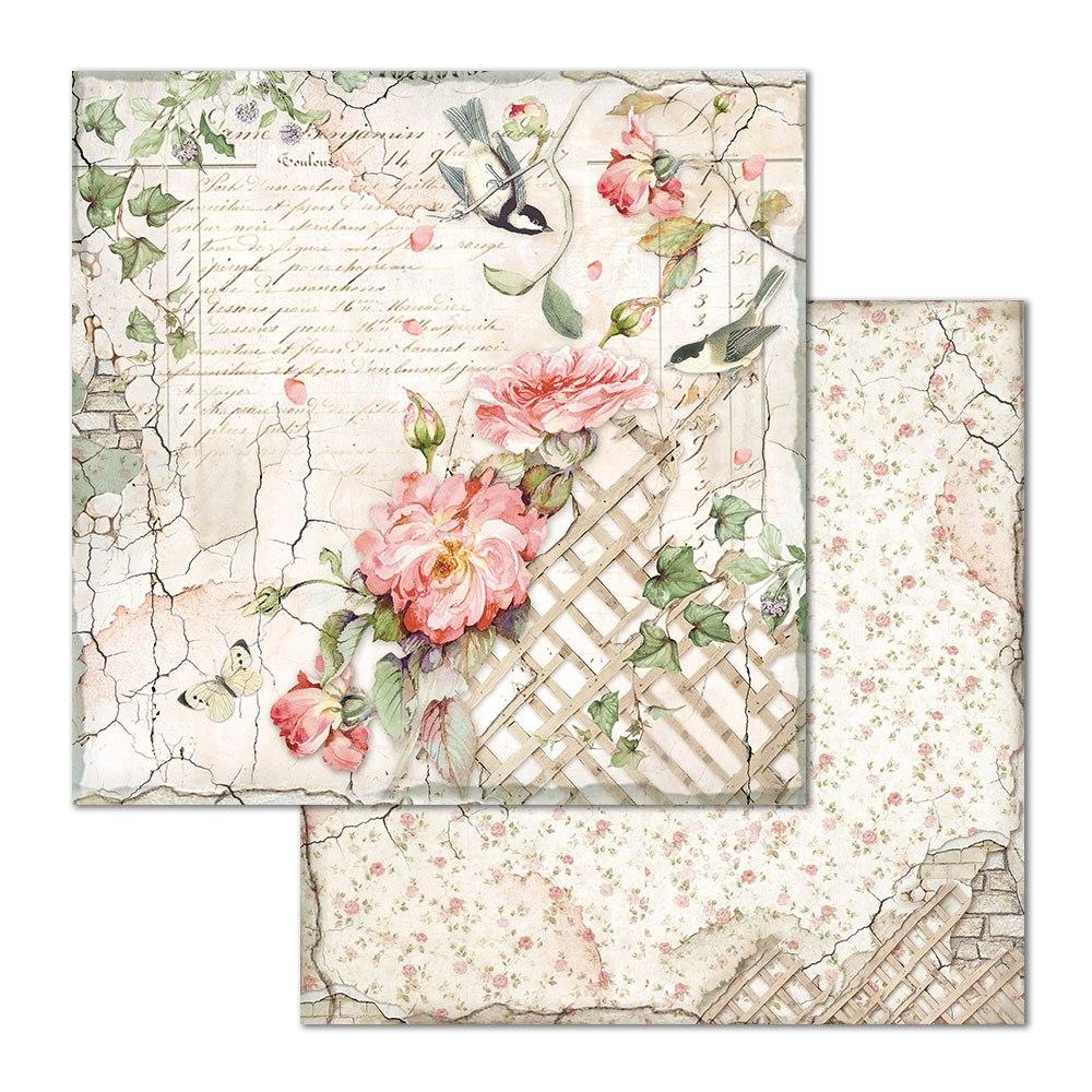 Skräppipaperi Stamperia, 30x30cm, Rose