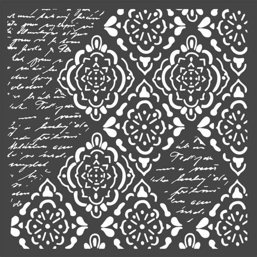 Mixed Media-sabluuna Stamperia, 18x18cm, Imagine