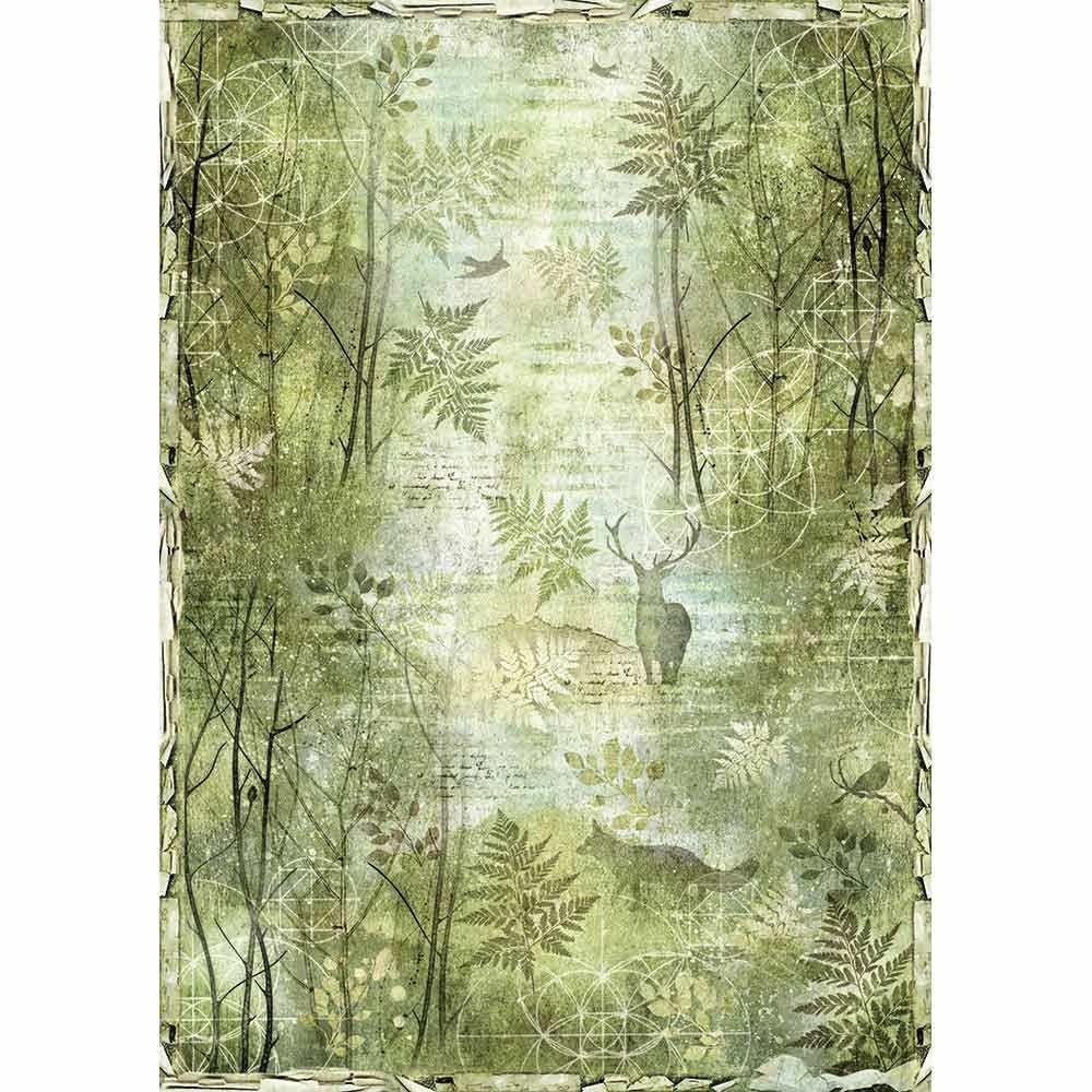 Riisipaperi Stamperia, A3-koko, Forest