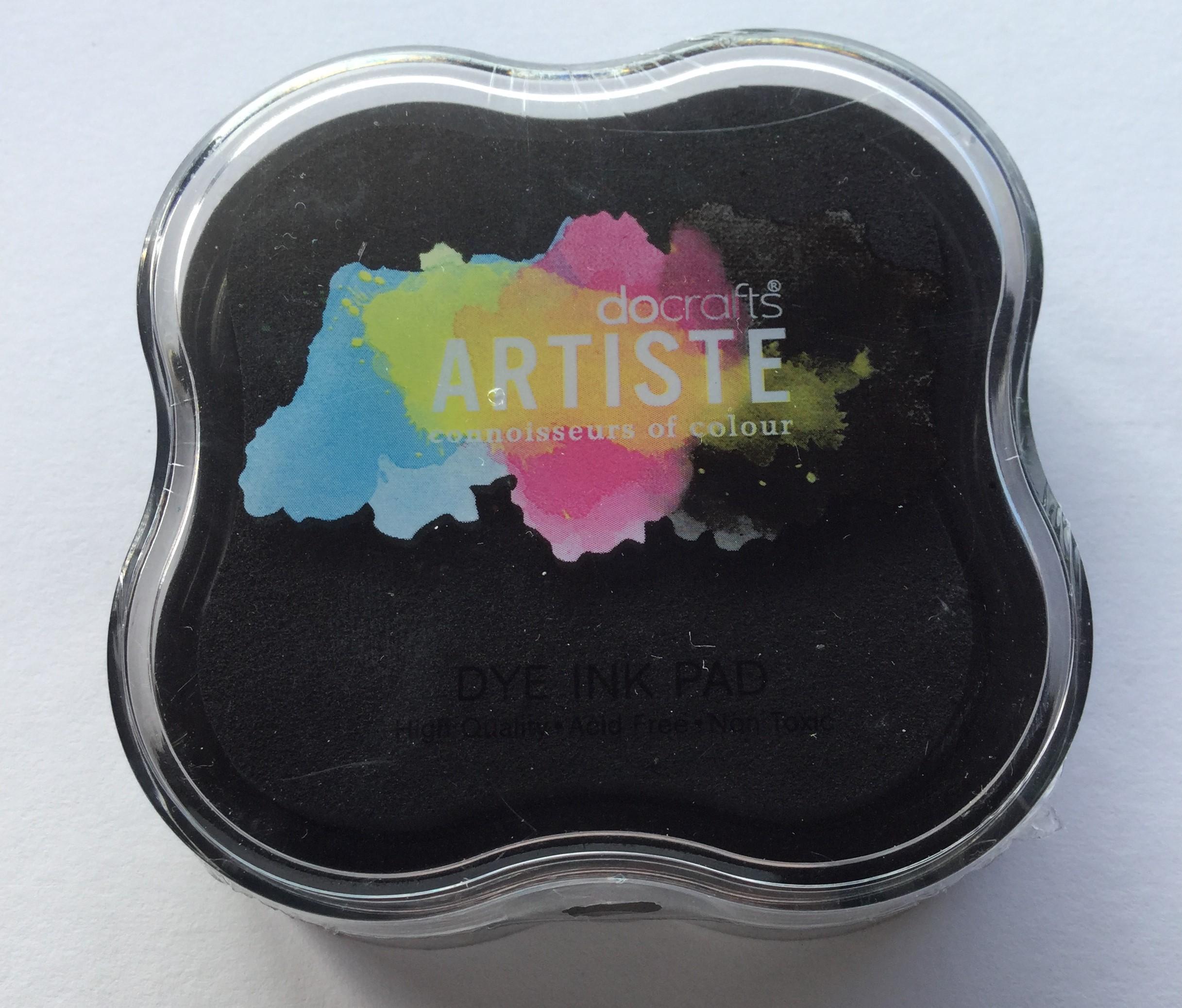 Leimasintyyny, Docrafts Artiste Dye, musta