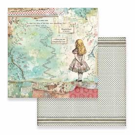 Skräppipaperi Stamperia, 30x30cm, Alice