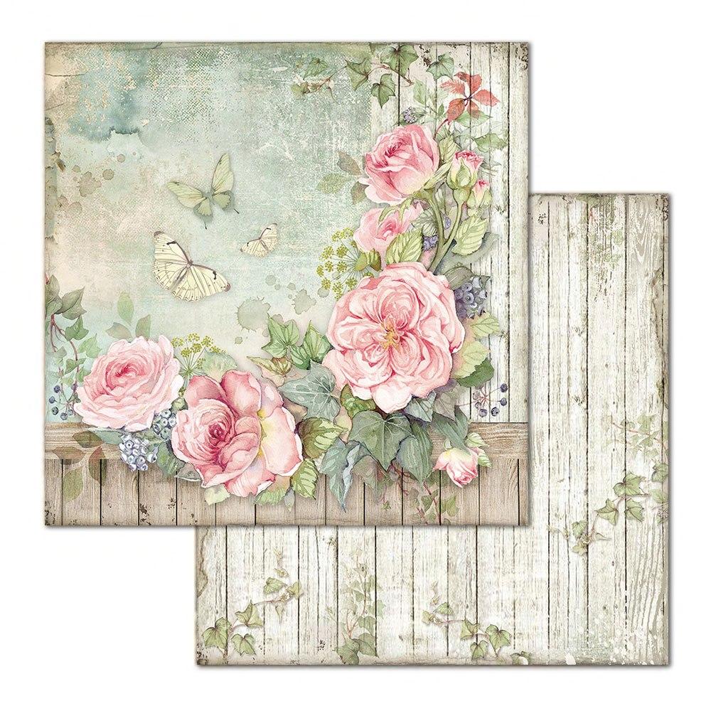 Skräppipaperi Stamperia, 30x30cm, Rose lauta