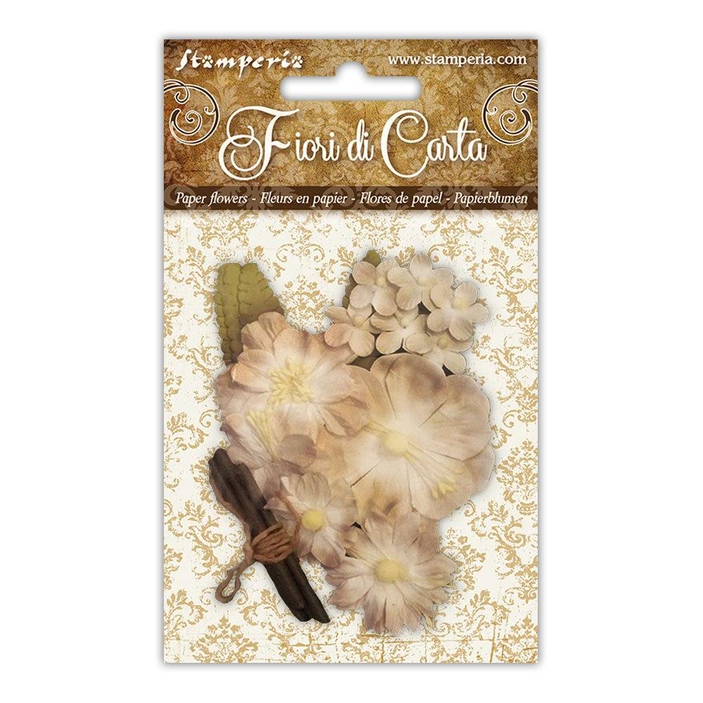 Vaaleat paperikukkaset ja puutikut, Stamperia