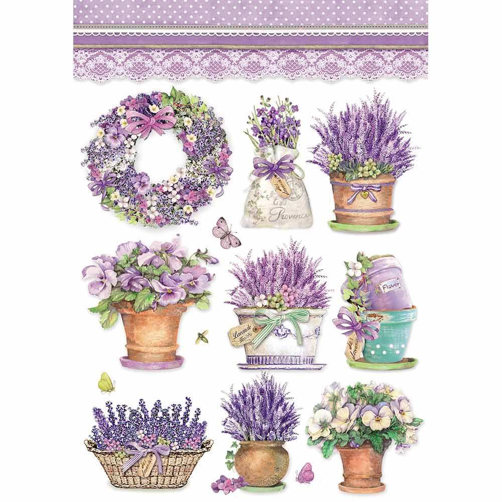 Riisipaperi Stamperia, A4-koko, Provence pienet kuvat