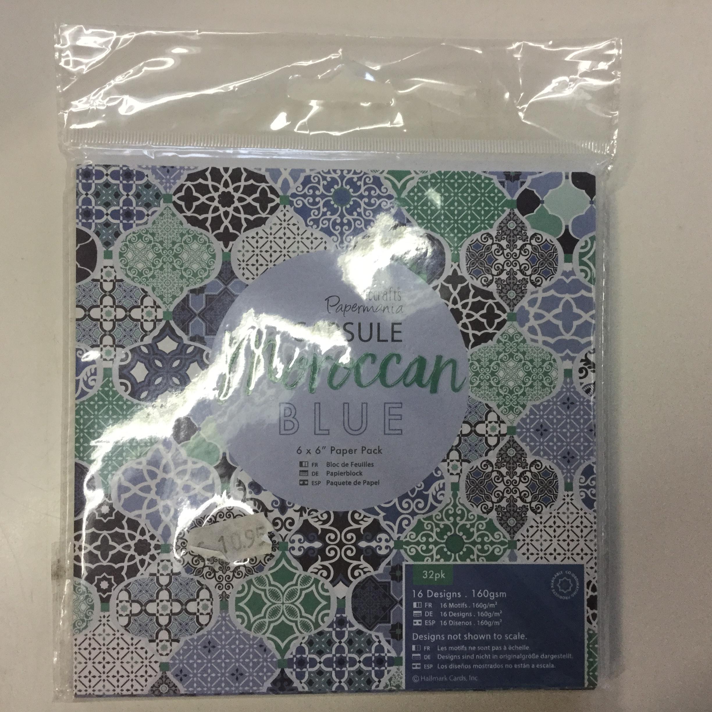 Paperilajitelma Papermania, Moroccan Blue