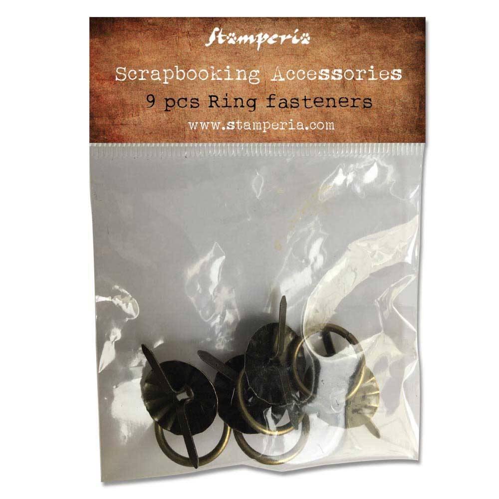 Rengasvedin Stamperia, 2x2,7cm, vintage-musta
