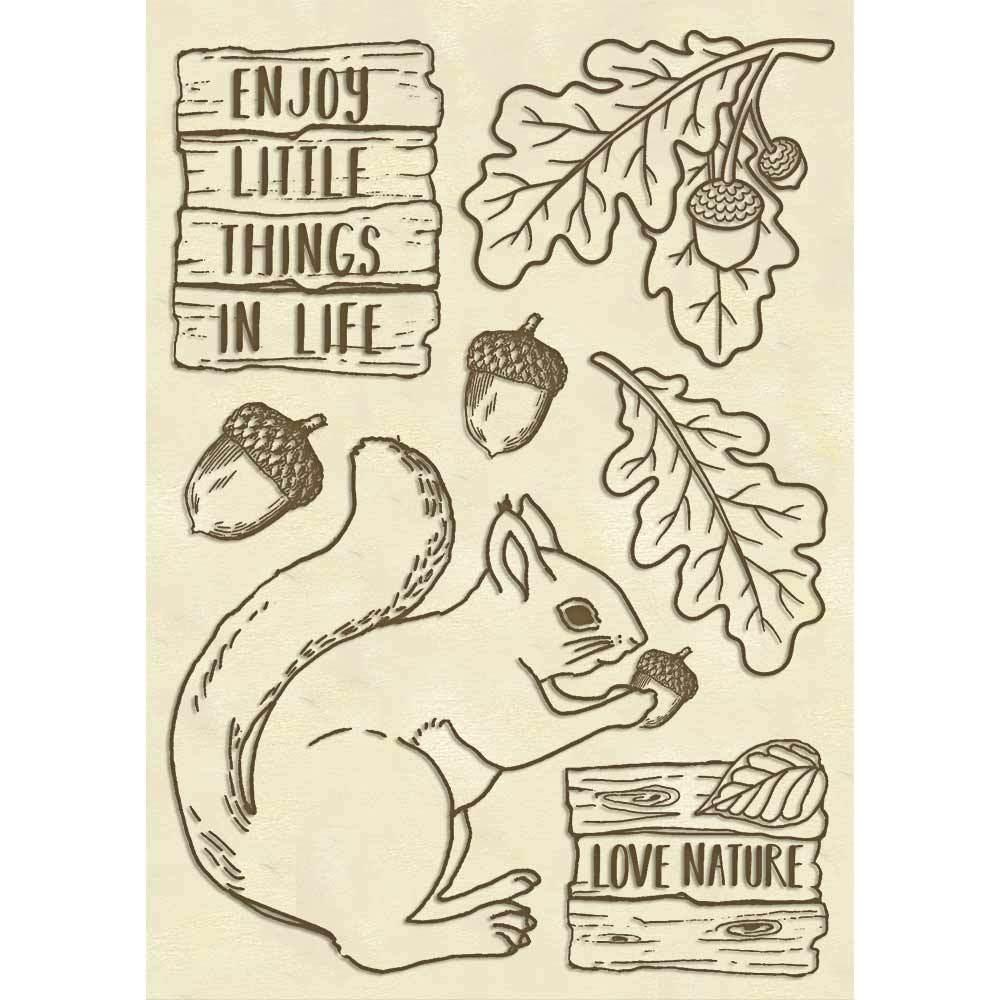 Vanerikuvio Stamperia, A6-koko, Forest Orava