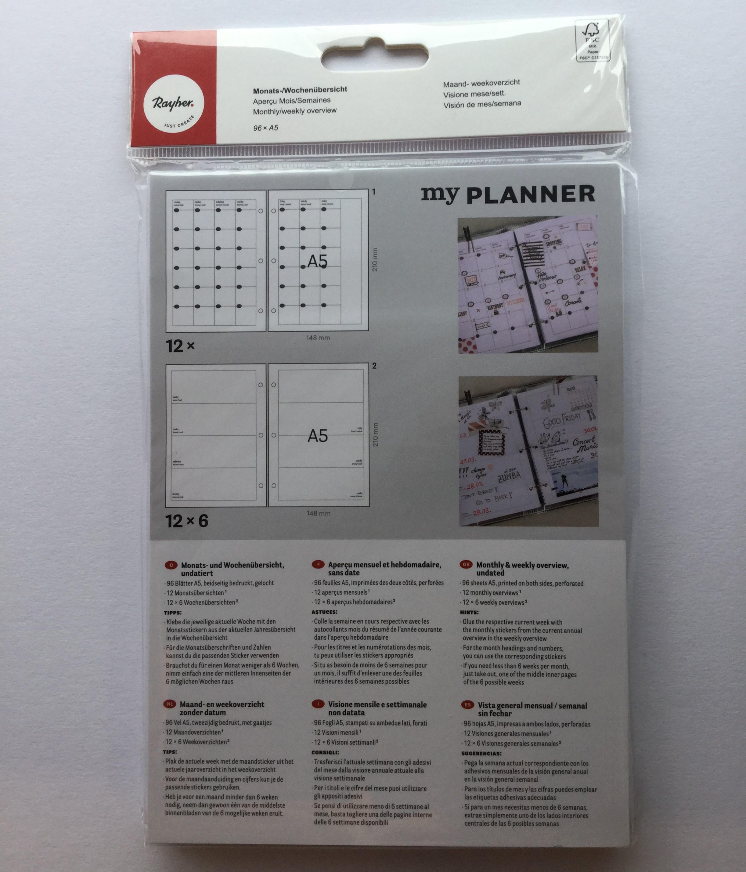 My Planner, vuosipaketti