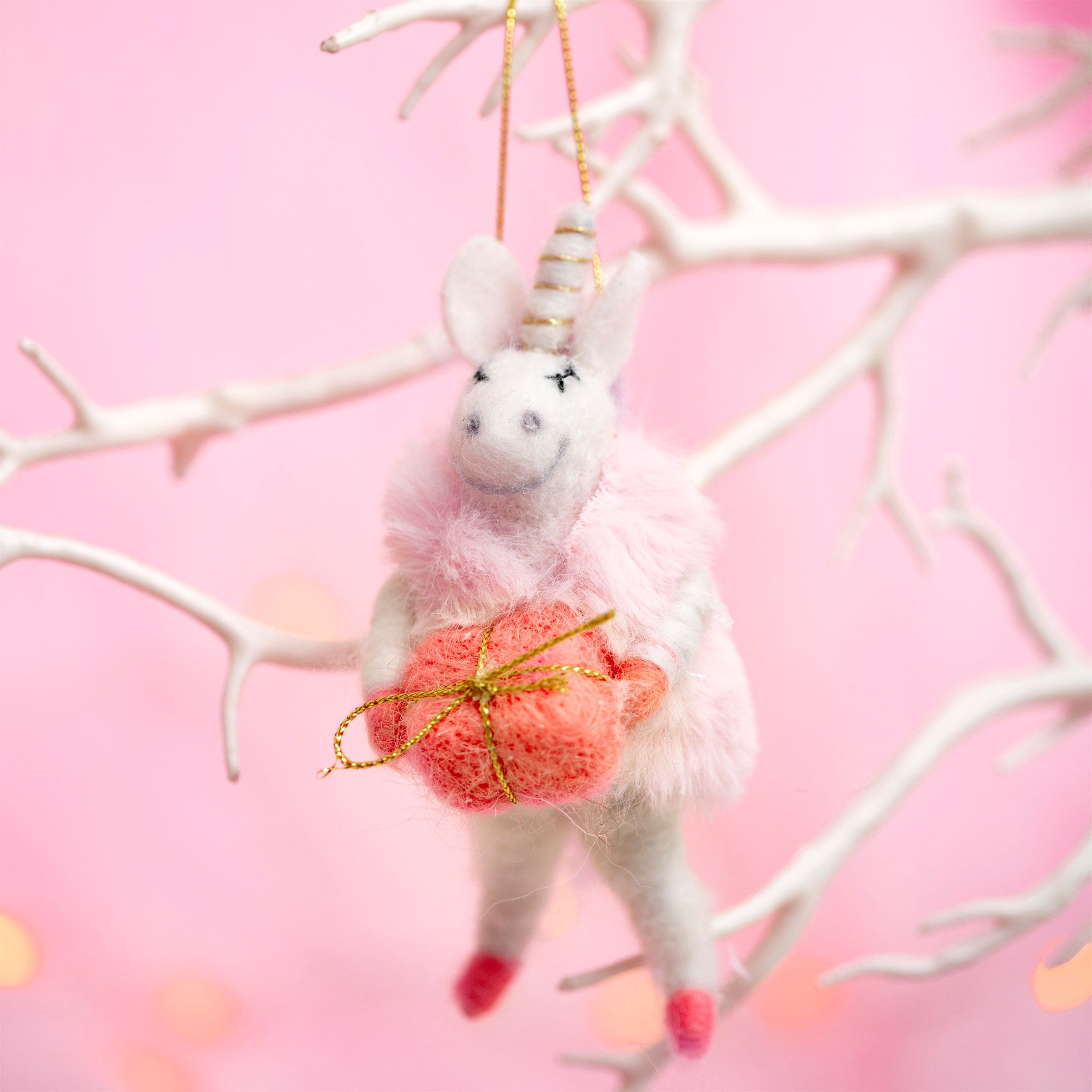 Unicorn with Gift Decoration