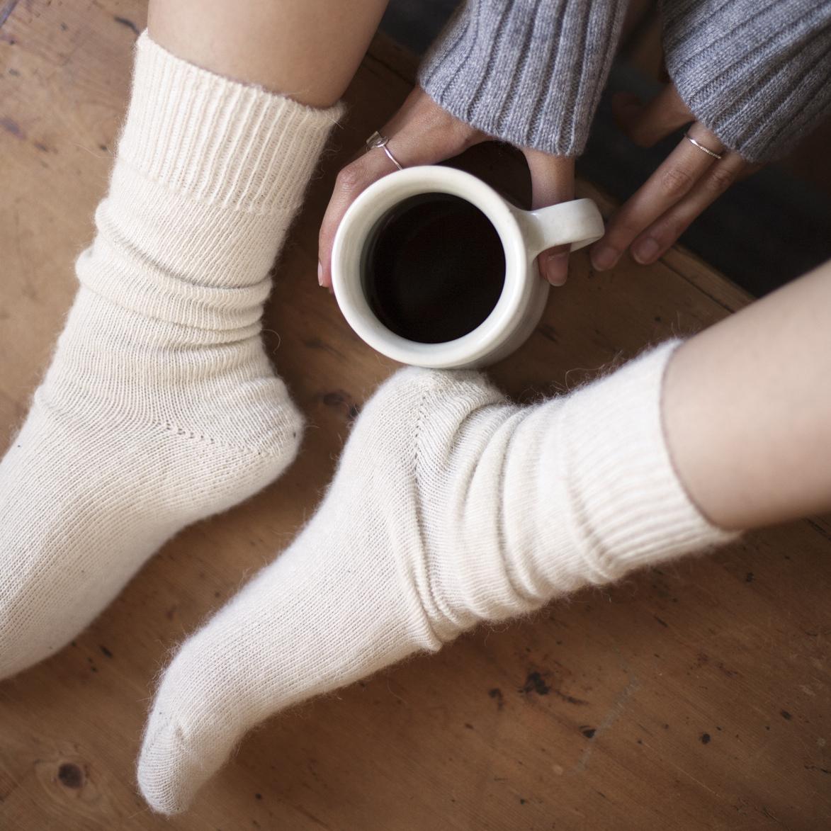 Alpaca Socks Cream