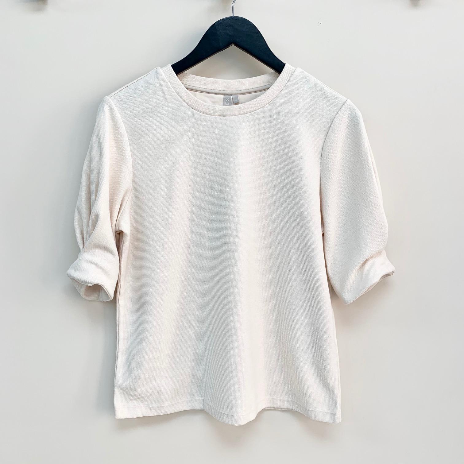 Maeryn Cream 3/4 Sleeve Top