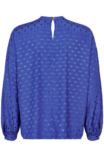 Brandall Blue High Neck Blouse