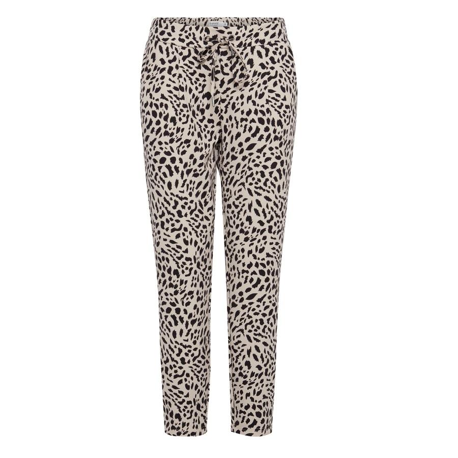 Rizetta Crop Leopard Print Joggers
