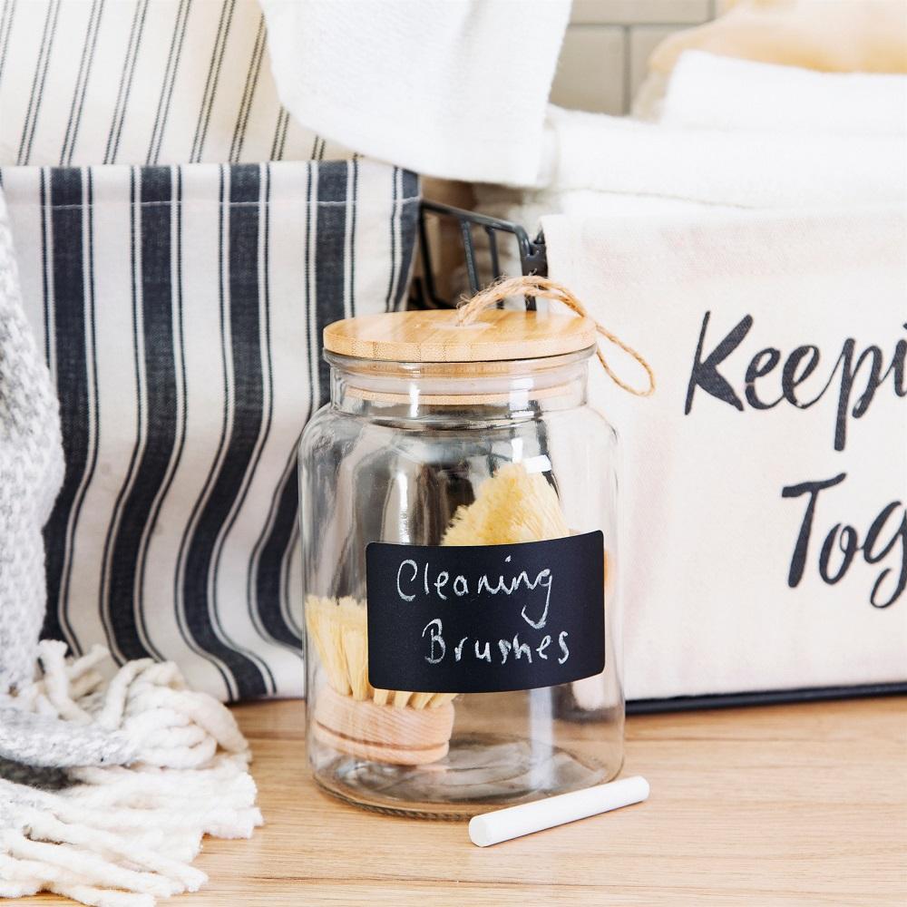 Glass jar with chalk