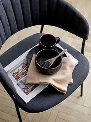 Neri Black Ribbed Mug