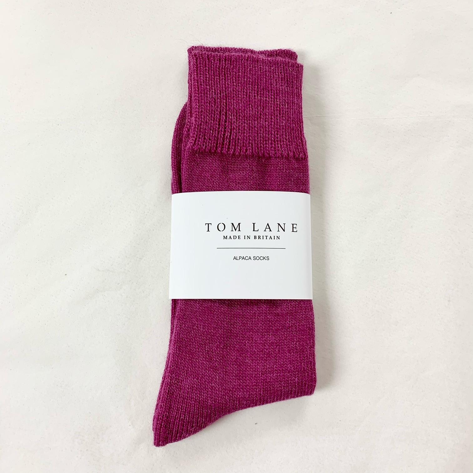 Alpaca Socks Berry Pink  4-8