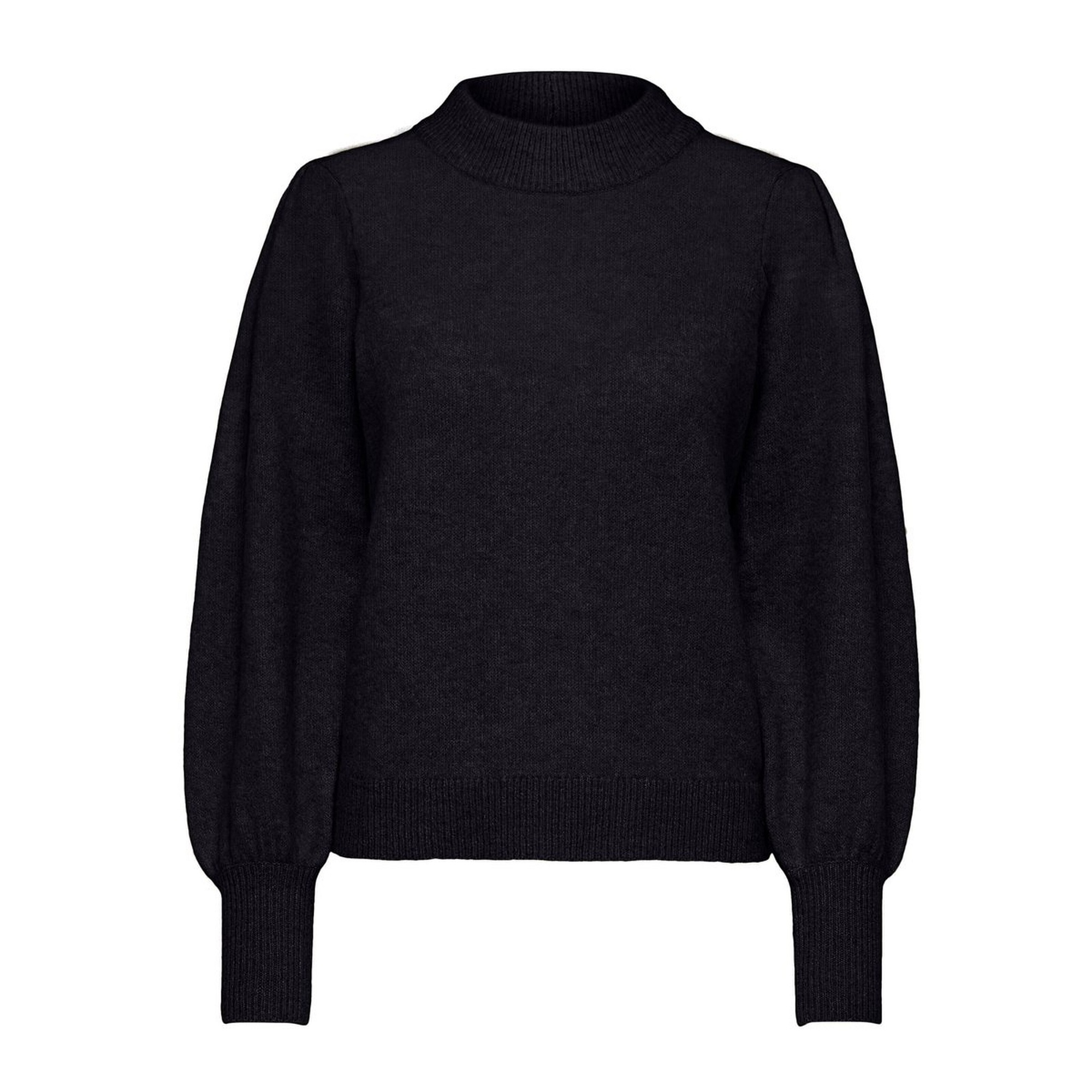 Block Knit Black