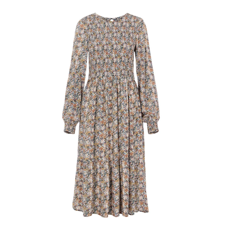 Carla Smocked Midi Dress