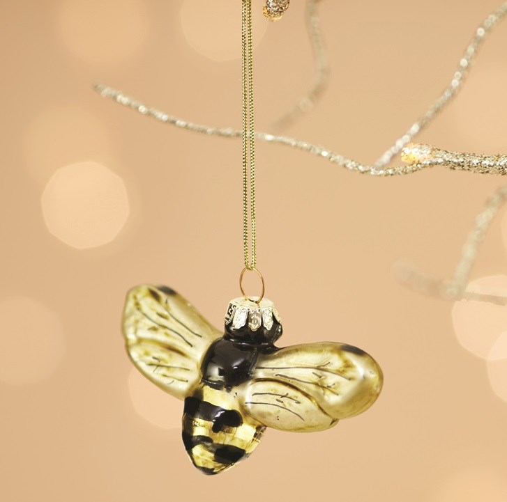 Golden Bee Bauble