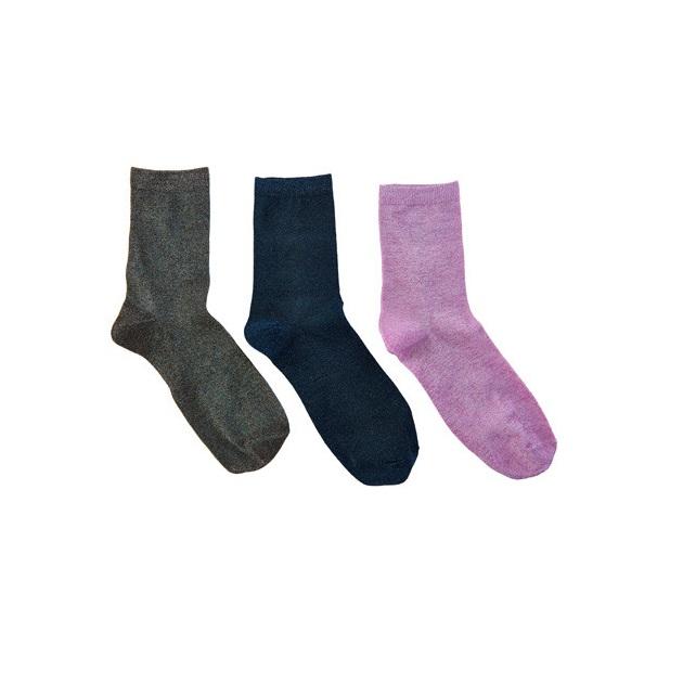 3 Pack Glitter Socks