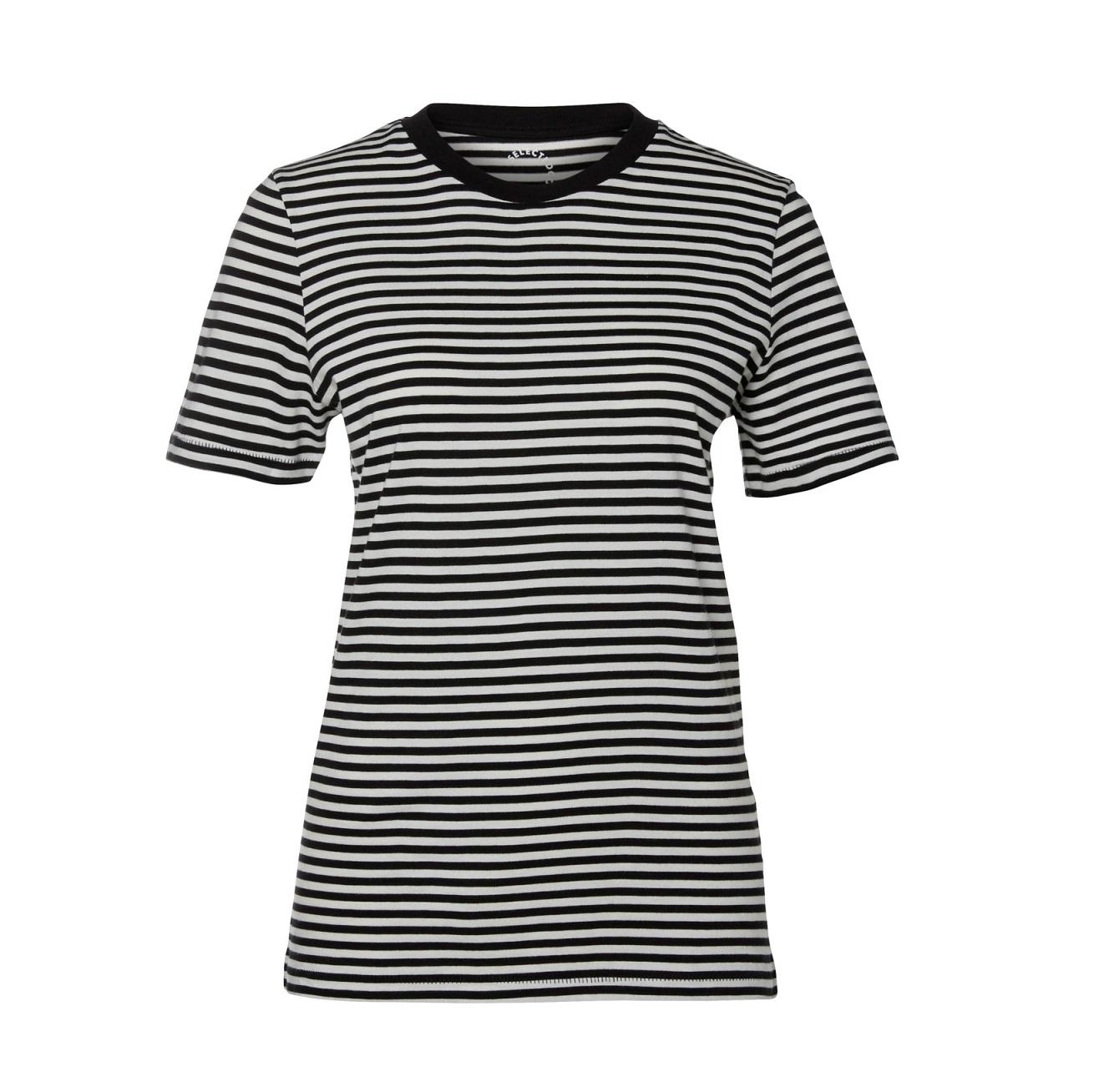 Black / White Striped Tee