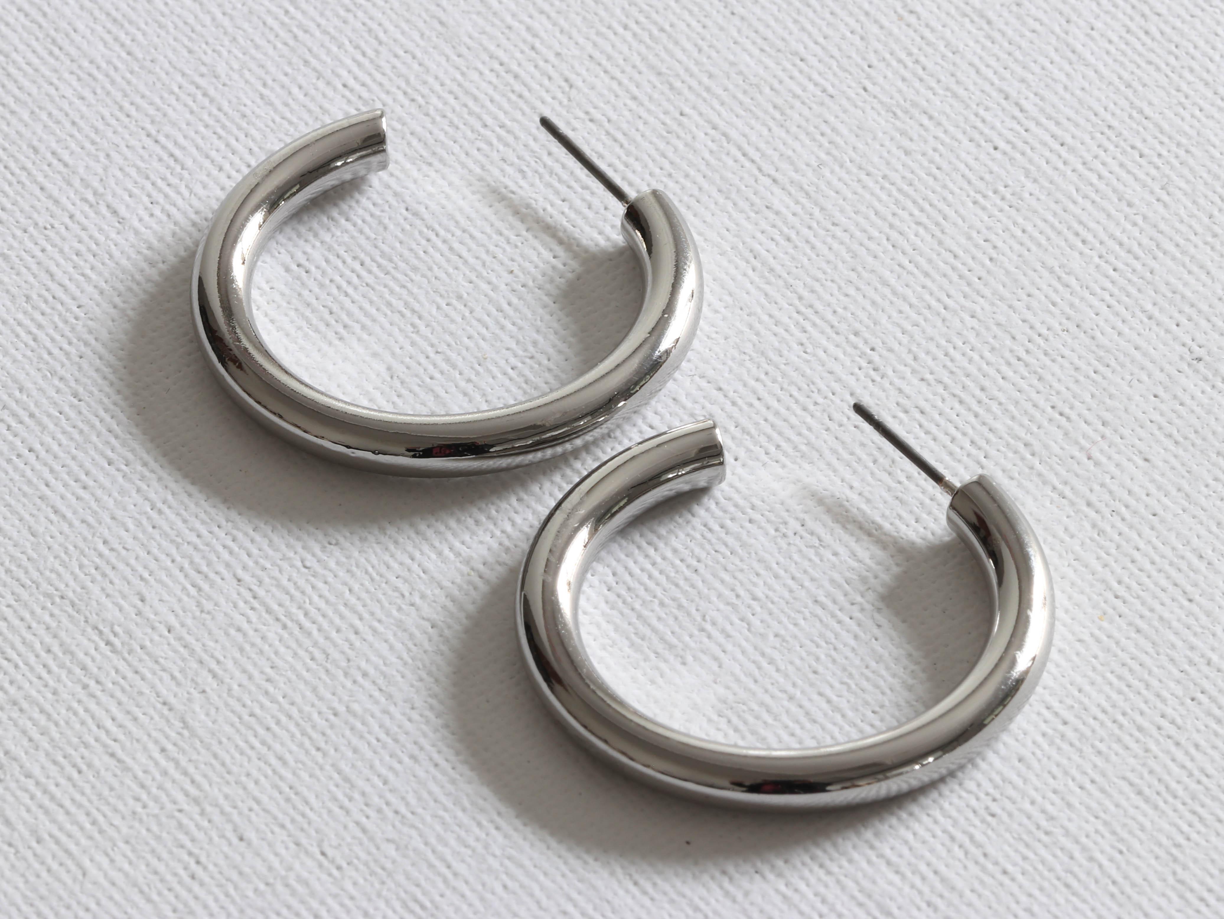 Hermione Hoop Earrings Silver