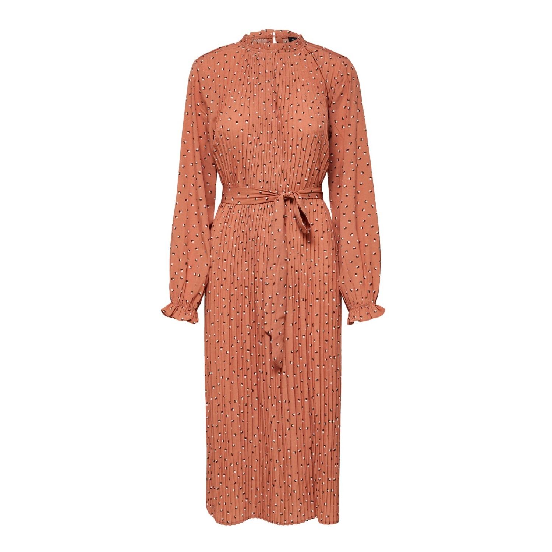 Mela Spot Midi Dress