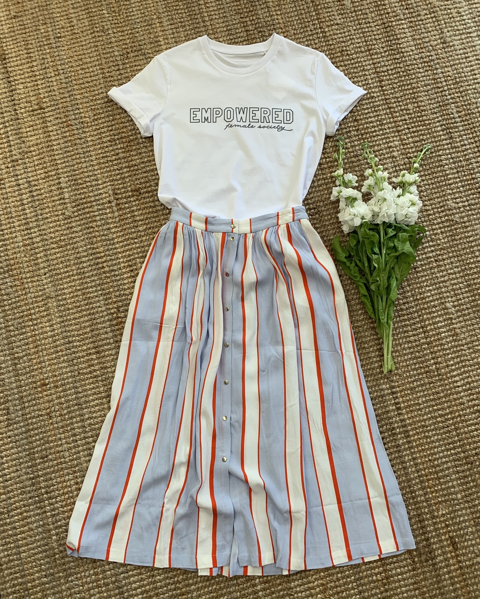 EMPOWERED Female Society T-Shirt White