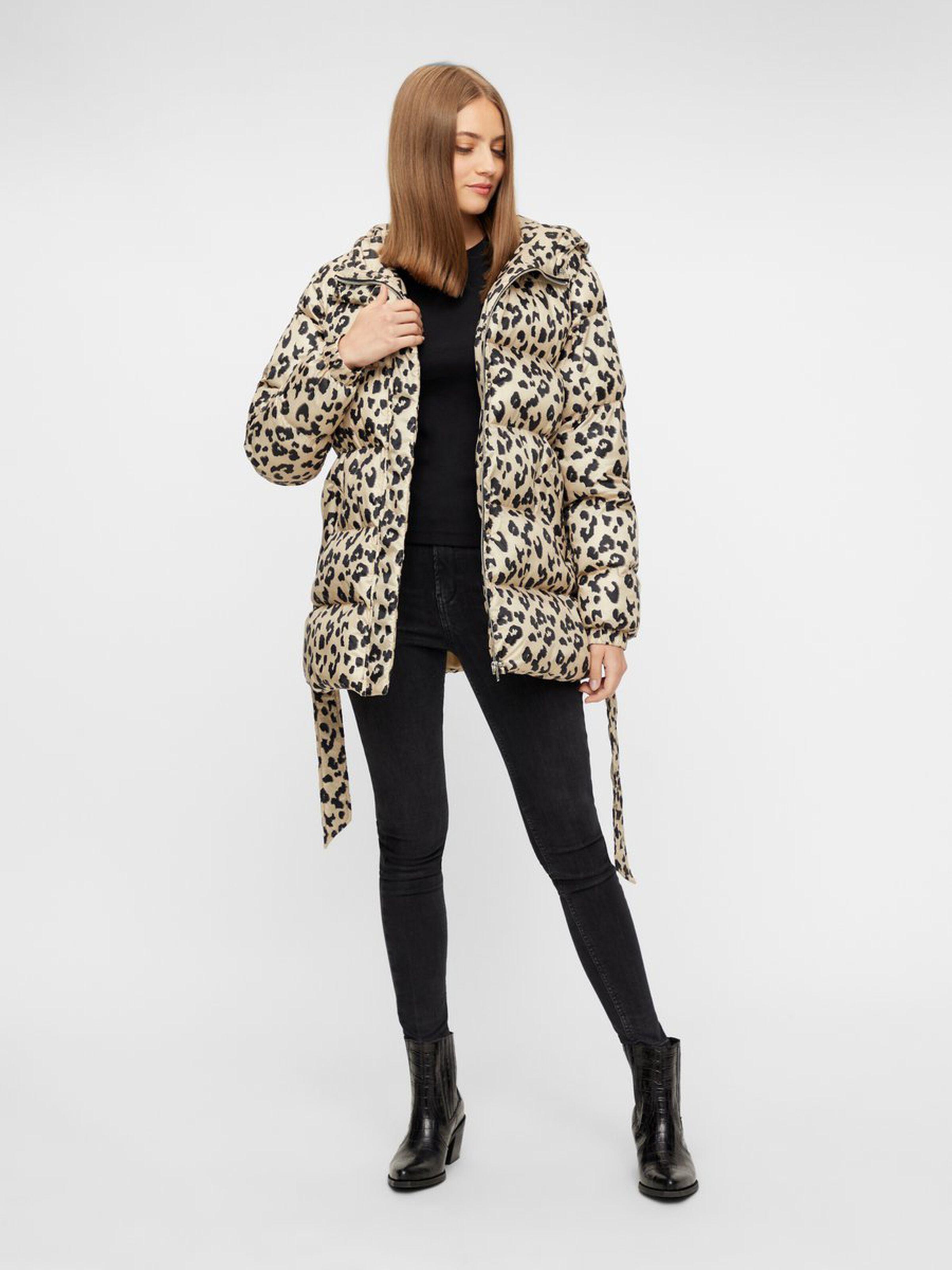 Emma Leopard Print Hooded Jacket