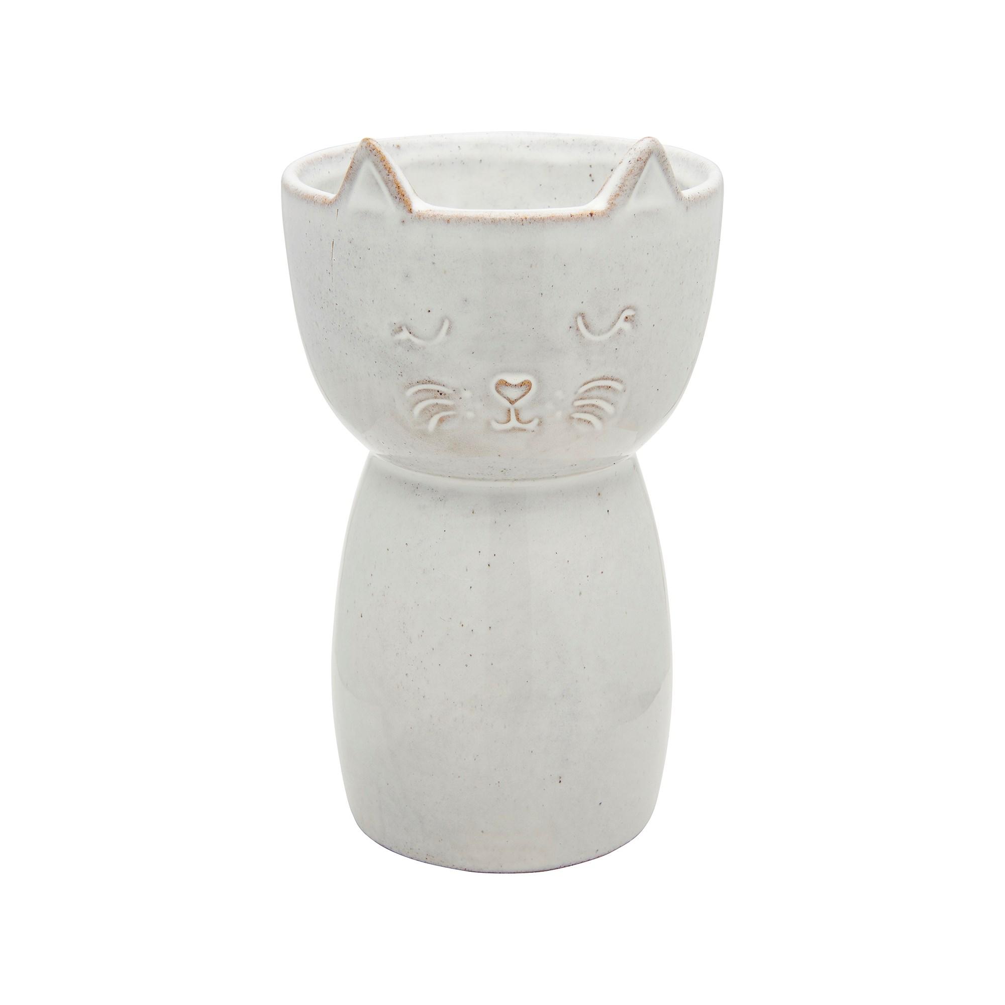 Speckled Cat Vase