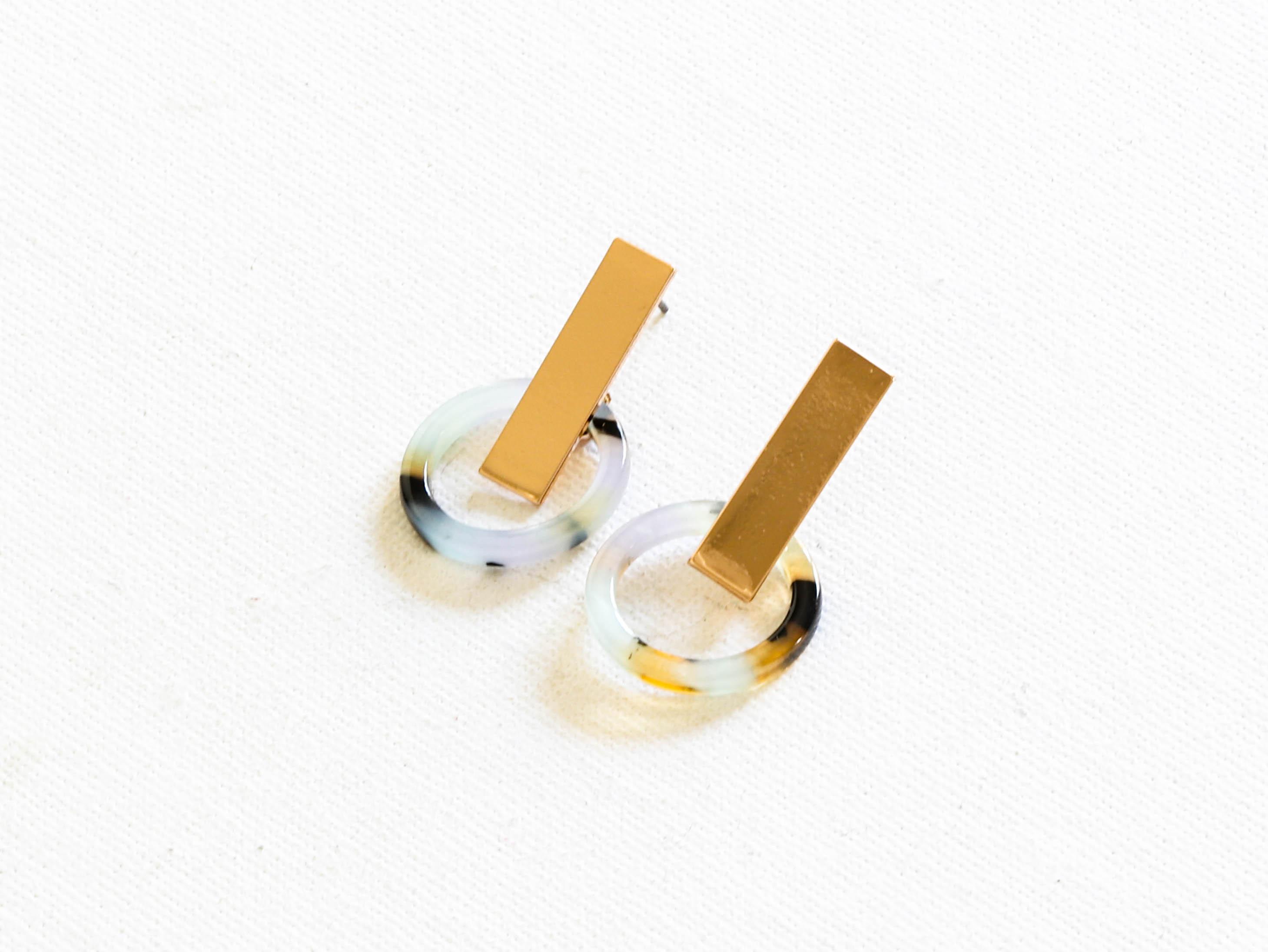 Ernestine Blue Resin Earrings