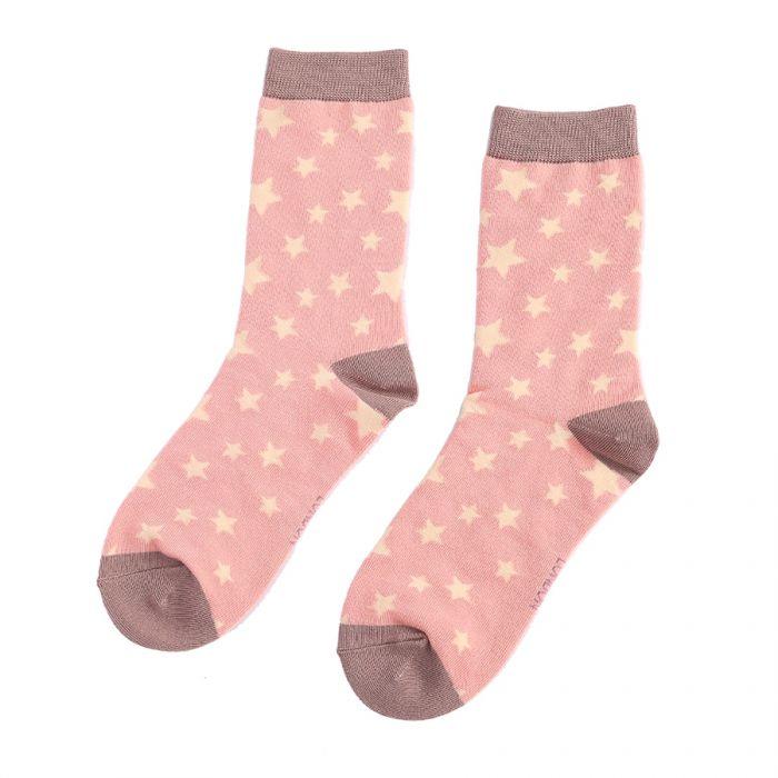 Stars Socks Dusty Pink