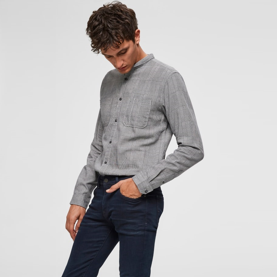 SALE Cameron Regular Fit Shirt Black Check