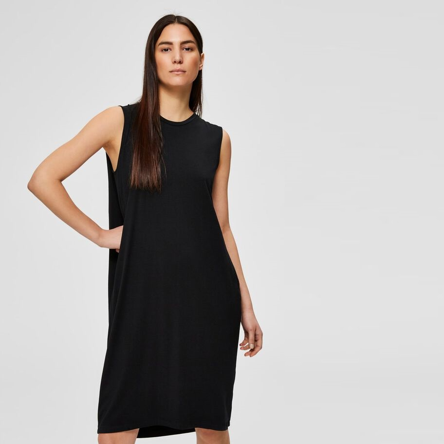Lola Black Midi Dress