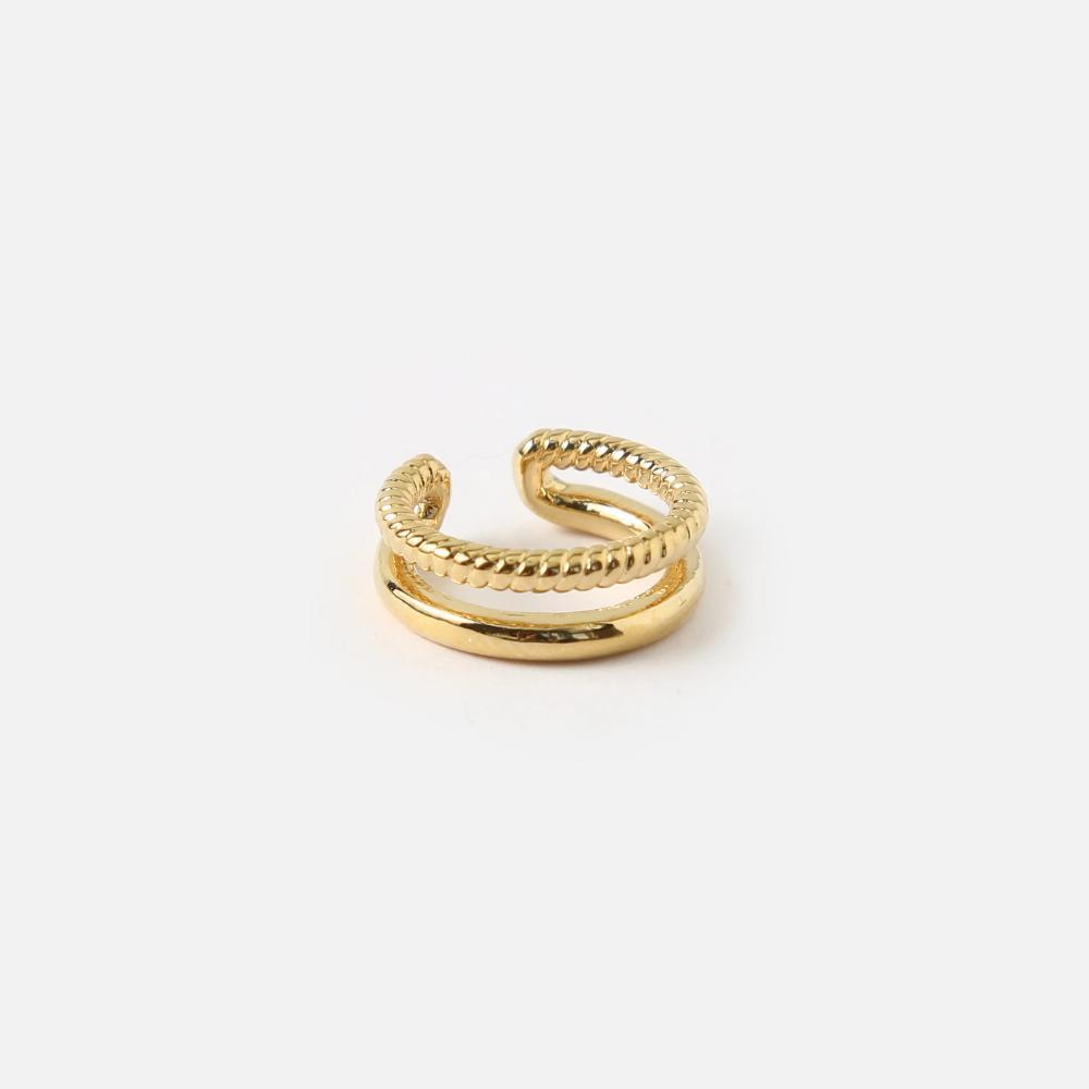Gold Double Ear Cuff