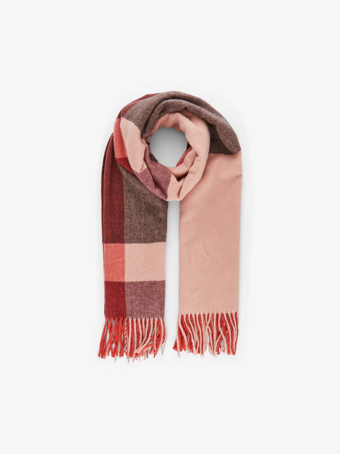 Jira Wool Red and Pink Mix Scarf