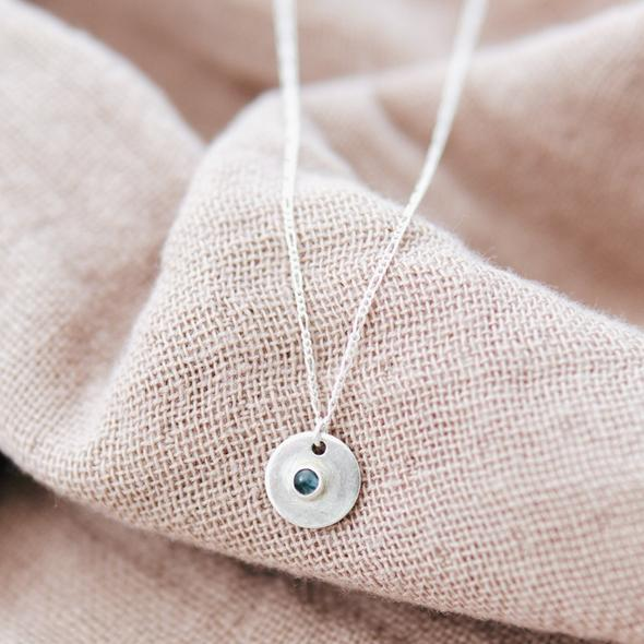 """Blue moon  necklace 18"""""""