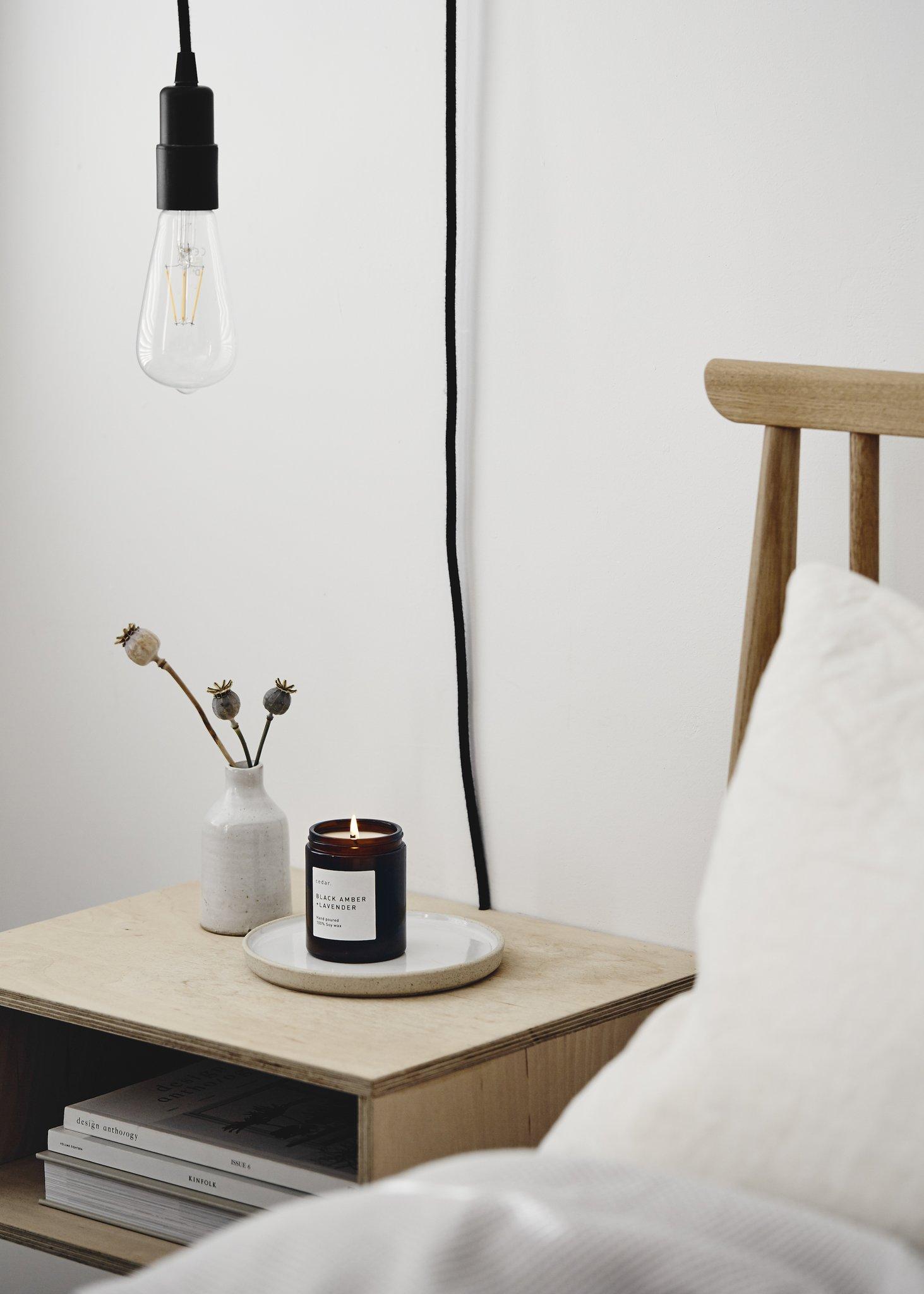 Cedar medium soy candle