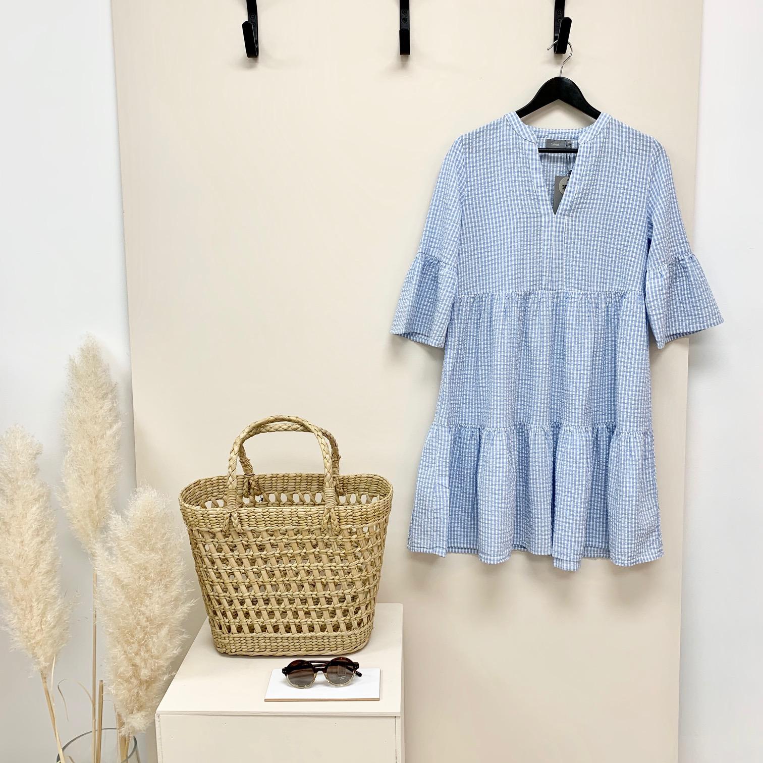 Blue Gingham Smock dress