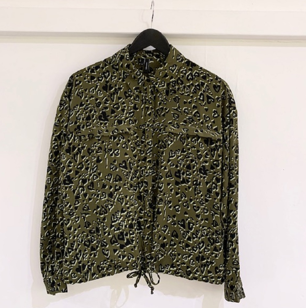 SALE Lizzy khaki heart print shirt