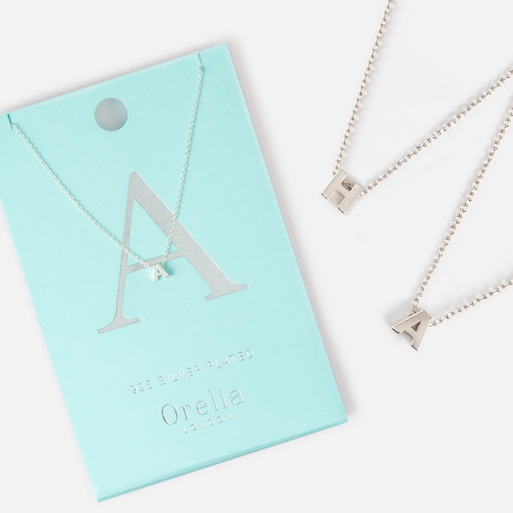 Silver Plated Initial Necklace