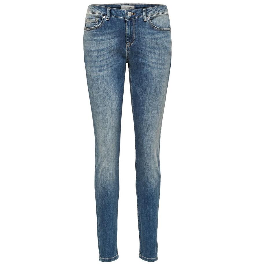 Ida mid waist skinny mid blue jean