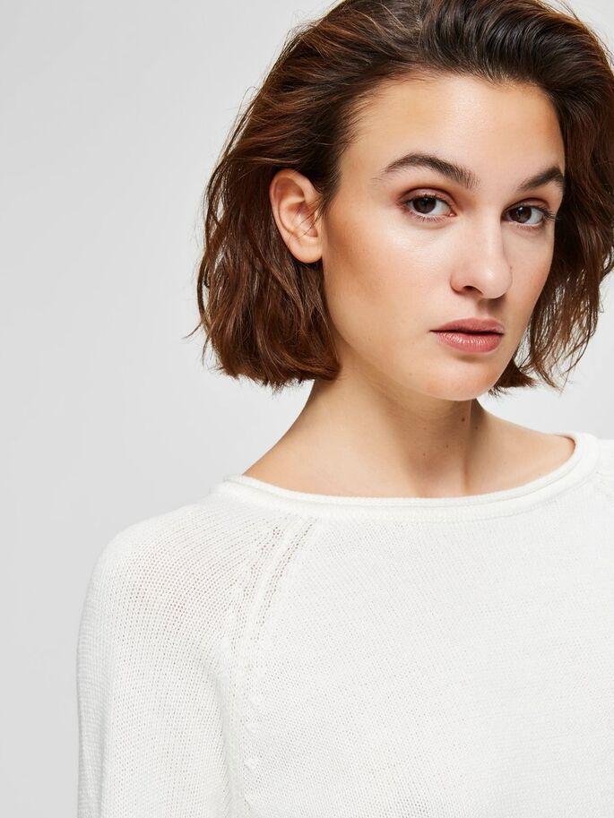 SALE Albi Long Sleeved Knit White