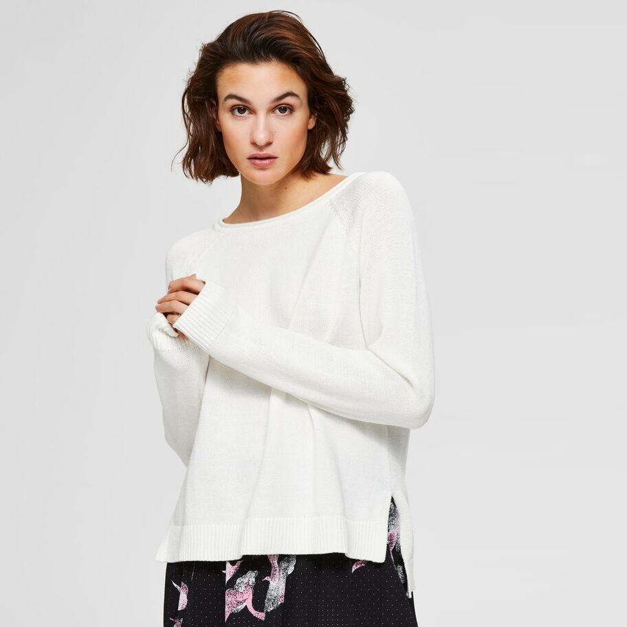 SALE Albi Long Sleeved Knit White