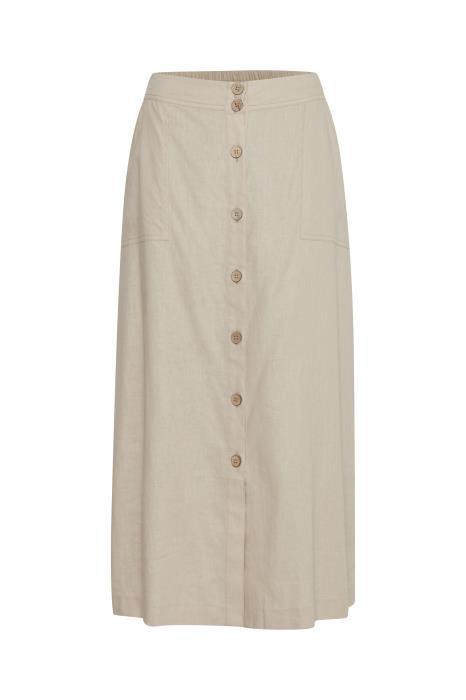 SALE Dream Linen Midi Skirt