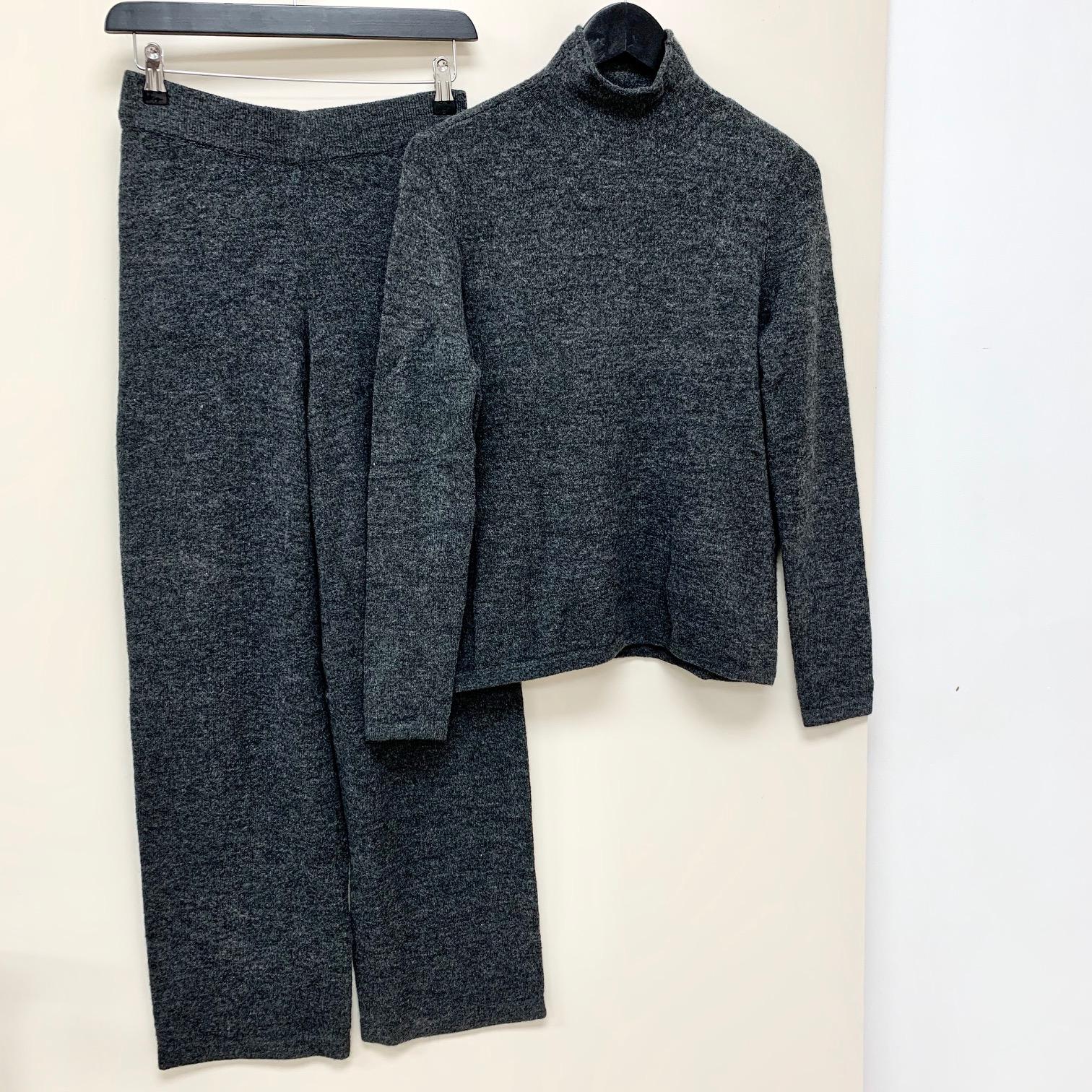 Avery knit lounge trousers dark grey