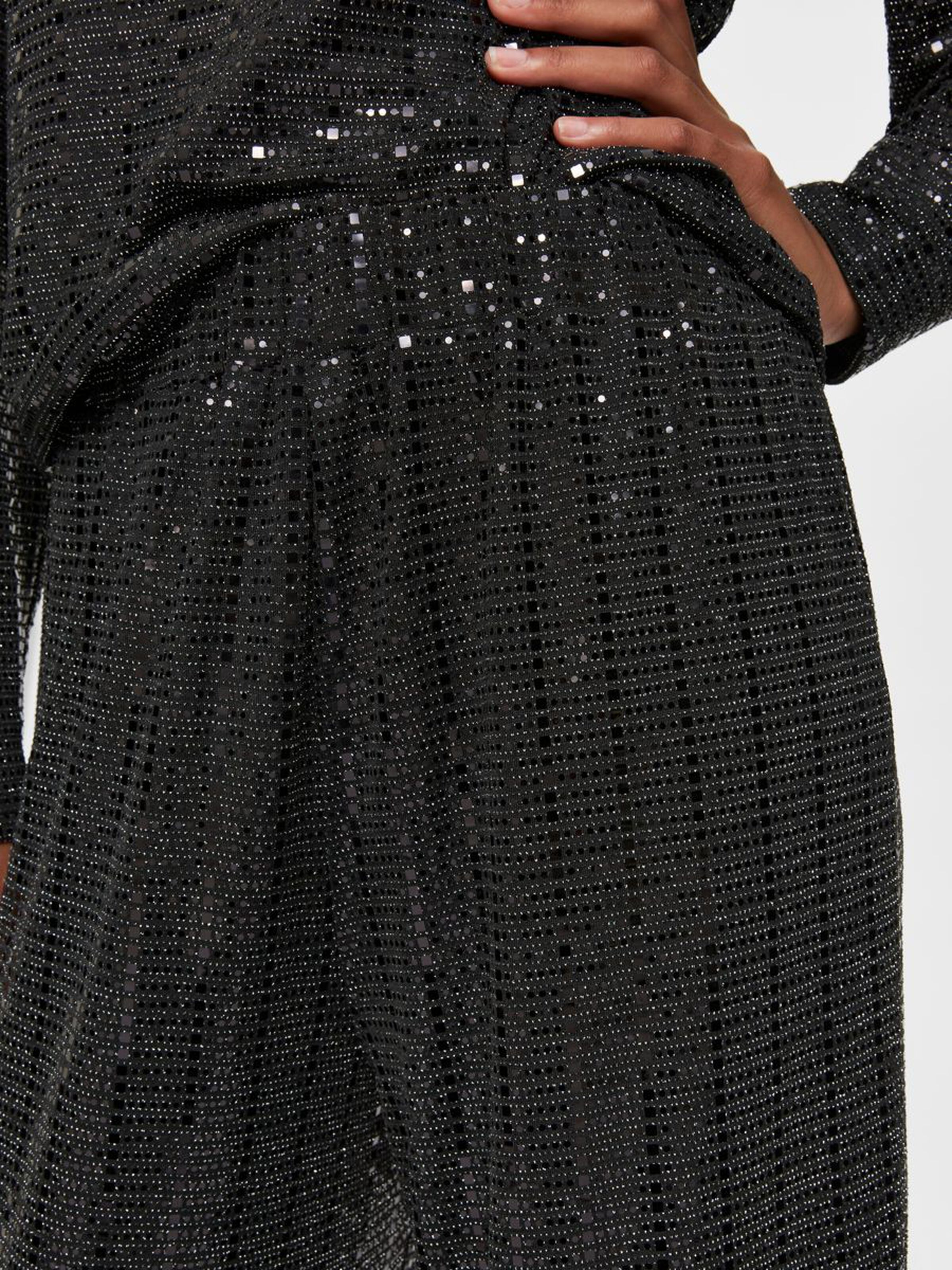 SALE Sandra Wide Leg Sparkly Trousers WAS £65