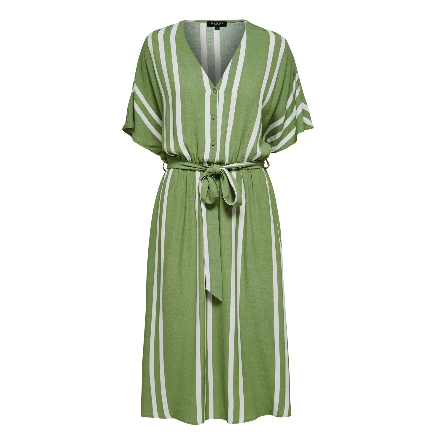 SALE Vienna green stripe dress was £85