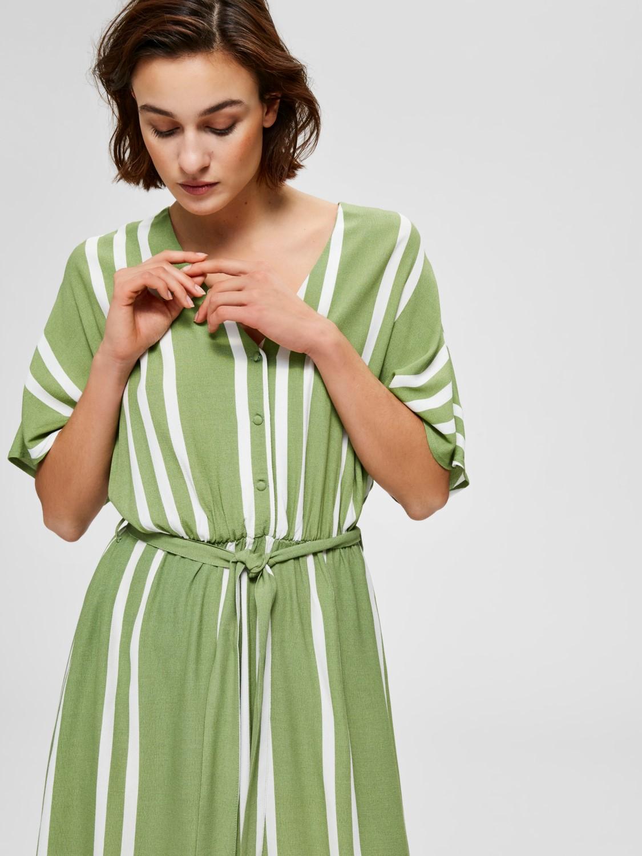 SALE Vienna green stripe dress was £85