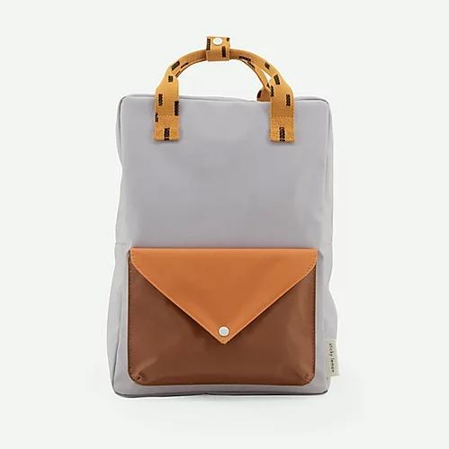 Sticky lemon backpack lavender with brown envelope